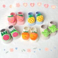 Kaos Kaki Bayi Baby Prewalker Fruit Strawberry Carrot Lucu Boneka Pita