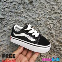 Sepatu Bayi Balita - Vans Baby Oldskool Black White Tali Size 16 20