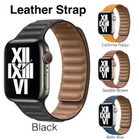 Apple Watch Leather Link Strap KULIT Series SE 6 5 4 3 2 1 PREMIUM
