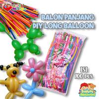 Balon Panjang isi 100pcs Balon Twist Balon Cacing bisa dibentuk Latex