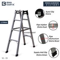 tangga lipat 1.5 meter aluminium merk bina karya