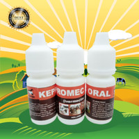 KEPROMEC ORAL 5 ML - Obat Gudik / Jamur / Scabies Hewan Kelinci / Anji