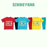 Piyama Baju Tidur Anak Laki laki Perempuan Imlek 12 Shio Lucu - MerahNAV, S(2-3th)