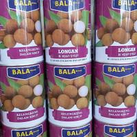 bala brand longan kaleng buah/ kelengkeng 565g