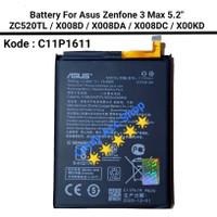 Baterai Batre Asus Zenfone 3 Max ZC520TL X008DA C11P1611 Original Bat