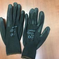 Sarung Tangan PU Coated Palm Fit Size L warna Hitam