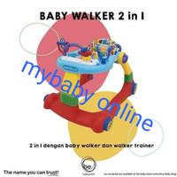 baby walker 2 in 1 elle - hijau kuning
