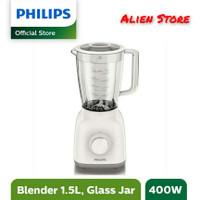Philips HR 2106 Blender Kaca 1,5 Liter - Putih / Garansi Resmi