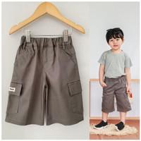 Celana Anak Cargo Pendek Littlebee Grey Size 1-5Th - 1tahun