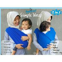 Hanaroo Simple Wrap 2 in 1 / Baby Wrap Instan / Geos Kaos