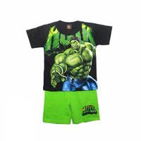 baju hulk/ setelan pendek anak cowok hulk
