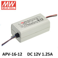 Mean Well APV-16-12 Power Supply LED Driver (12v 1.25Ampere)