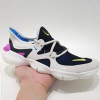 Sepatu Sneakers Nike Free Run 5.0 White Black Pink Women