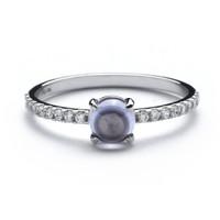 AurumLab Cincin Emas 9K – Elsera Purple - Putih, 14