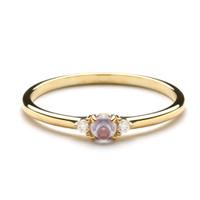 AurumLab Cincin Emas 9K – Xavera Purple - Putih, 10