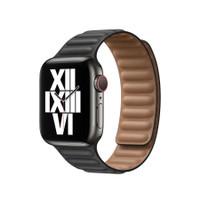 Apple Watch Leather Link Strap KULIT Series SE 6 5 4 3 2 1 PREMIUM - BLACK, 42mm