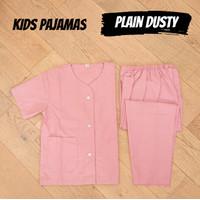 Piyama Anak Cowok Perempuan Baju Tidur Premium Plain Dusty Usia 1-9 Th