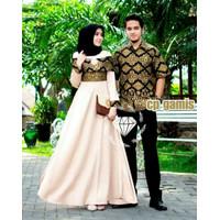 Couple Batik Kemeja Gamis Baju Sepasang Sarimbit Pasangan Pesta Mewah