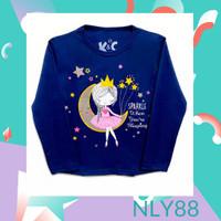 NLY88 Baju Anak / Kaos Anak Perempuan Lengan Panjang Sparkle 1-10