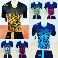 Jersey Futsal Baju Volly Kaos Bola Setelan Olahraga Voli Mizuno 2 - Kuning, M