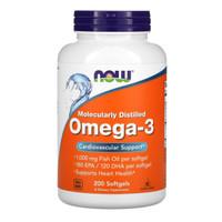 Now Foods Omega 3 Cardiovascular Support Original USA, 200 Softgel