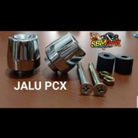 jalu stang PCX bandul stang motor model PCX besi crom universal