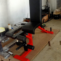Leg extension leg Curl adjustable bench bangku fitness
