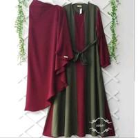 Baju Gamis Terbaru syari YUMNA SET Setelan muslim wanita plus Kerudung