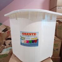 Bak Mandi / Bak Air Sudut Bahan PVC Oreste - Ori Putih