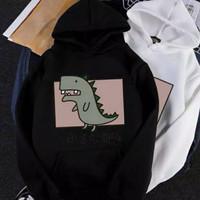Dino Tokyo Hoodie Black White Pink Yellow Sweater Fleece Baju Murah