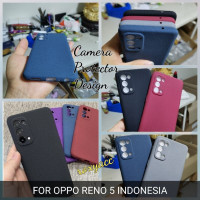 softcase oppo reno 5 case anti slip superthin silicon sandstone cover