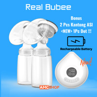 [Rechargeable] Real Bubee Pompa ASI Elektrik Ganda Double Breast Pump