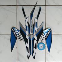 Stiker striping motor Vario techno 125 fi thailand 2019 biru-hitam