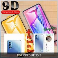 tempered glass 9D reno 5 garskin tempered glass kamera reno 5