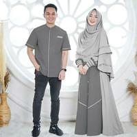 Baju Muslim Nizar Couple Baju Gamis Syari Couple Terbaru Gamis Murah - Blue