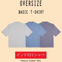 Kaos oversize Polos Heavy Cotton 20s Tebal Pria & Wanita Tshirt