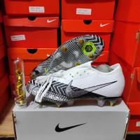 Sepatu Bola Nike Mercurial Vapor13 Elite White Black Anti clog soccer