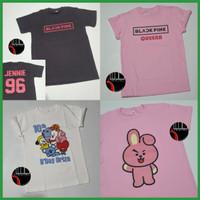 Baju Anak Dewasa BTS BT21 EXO BlackPink Black Pink Kpop