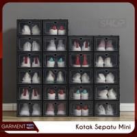 Kotak Sepatu Mini Tempat Penyimpanan Serbaguna Folding Shoe Box
