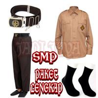 Set Seragam Pramuka SMP Baju Panjang Celana Panjang