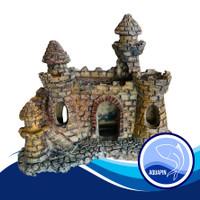 Hiasan Aquarium Aquascape Castel Coklat from Aquapin 2003