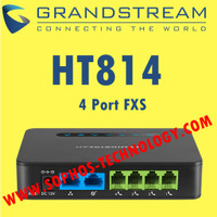 VoIP ATA Grandstream HT814 - 4 FXS With Gigabit NAT Router