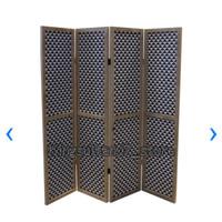 Pembatas Ruangan/Sekat Ruangan/Panel 4 Lipat 180x181x3 cm - Hitam