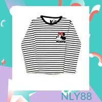 NLY88 Baju Anak / Kaos Anak Perempuan Lengan Panjang Salur Mini 1-10