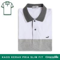 Crocodile VICK Baju Kaos Kerah Pria Men Polo Original Abu grey