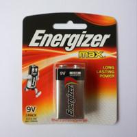 Baterai Kotak 9V ENERGIZER MAX ALKALIN Batre Batere 9 Volt