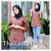 Baju Setelan Perempuan Anak /Remaja Atasan &Celana Thara Set Shofiya