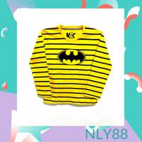 NLY88 Baju Anak / Kaos Anak Laki Laki Lengan Panjang Bat Yellow 1-10