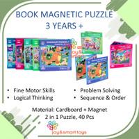 JOY SMART TOYS BOOK MAGNETIC PUZZLE 2 IN 1 MAINAN EDUKASI ANAK 3 TAHUN - FAIRY TALE