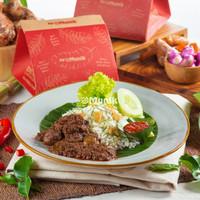Nasi Daun Jeruk Rendang Daging Sapi Kemasan Box